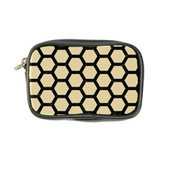 Hexagon2 Black Marble & Light Sand (r) Coin Purse by trendistuff