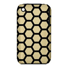 Hexagon2 Black Marble & Light Sand (r) Iphone 3s/3gs by trendistuff