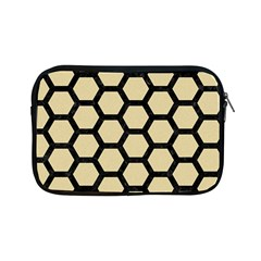 Hexagon2 Black Marble & Light Sand (r) Apple Ipad Mini Zipper Cases by trendistuff