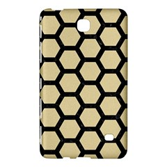 Hexagon2 Black Marble & Light Sand (r) Samsung Galaxy Tab 4 (7 ) Hardshell Case  by trendistuff