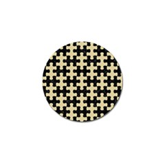 Puzzle1 Black Marble & Light Sand Golf Ball Marker (10 Pack)
