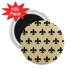 Royal1 Black Marble & Light Sand 2 25  Magnets (100 Pack)  by trendistuff