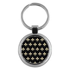 Royal1 Black Marble & Light Sand (r) Key Chains (round)