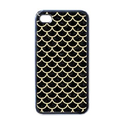 Scales1 Black Marble & Light Sand Apple Iphone 4 Case (black) by trendistuff