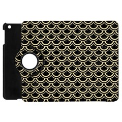 Scales2 Black Marble & Light Sand Apple Ipad Mini Flip 360 Case by trendistuff