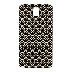 Scales2 Black Marble & Light Sand Samsung Galaxy Note 3 N9005 Hardshell Back Case by trendistuff