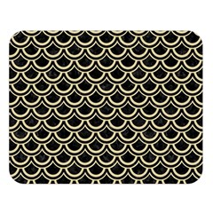 Scales2 Black Marble & Light Sand Double Sided Flano Blanket (large)  by trendistuff