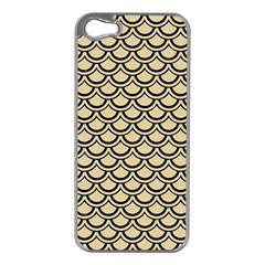 Scales2 Black Marble & Light Sand (r) Apple Iphone 5 Case (silver) by trendistuff