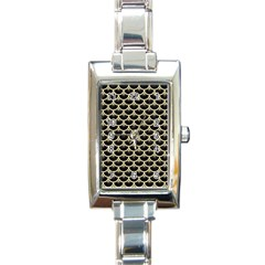 Scales3 Black Marble & Light Sand Rectangle Italian Charm Watch by trendistuff