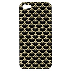 Scales3 Black Marble & Light Sand Apple Iphone 5 Hardshell Case by trendistuff