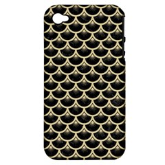 Scales3 Black Marble & Light Sand Apple Iphone 4/4s Hardshell Case (pc+silicone) by trendistuff