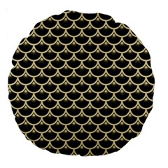 Scales3 Black Marble & Light Sand Large 18  Premium Round Cushions by trendistuff
