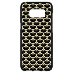 Scales3 Black Marble & Light Sand Samsung Galaxy S8 Black Seamless Case by trendistuff