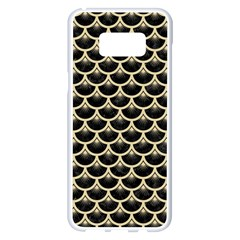 Scales3 Black Marble & Light Sand Samsung Galaxy S8 Plus White Seamless Case by trendistuff