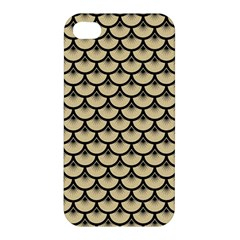 Scales3 Black Marble & Light Sand (r) Apple Iphone 4/4s Premium Hardshell Case by trendistuff