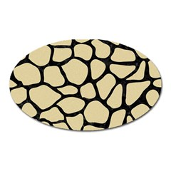 Skin1 Black Marble & Light Sand Oval Magnet by trendistuff