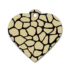 Skin1 Black Marble & Light Sand Dog Tag Heart (two Sides) by trendistuff