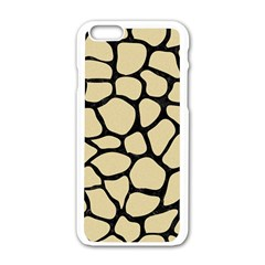 Skin1 Black Marble & Light Sand Apple Iphone 6/6s White Enamel Case by trendistuff