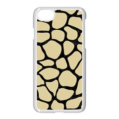 Skin1 Black Marble & Light Sand Apple Iphone 7 Seamless Case (white) by trendistuff