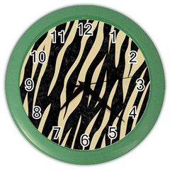 Skin3 Black Marble & Light Sand Color Wall Clocks by trendistuff