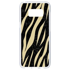 Skin3 Black Marble & Light Sand Samsung Galaxy S8 White Seamless Case by trendistuff