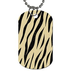 Skin3 Black Marble & Light Sand (r) Dog Tag (one Side) by trendistuff