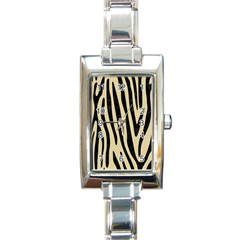 Skin4 Black Marble & Light Sand Rectangle Italian Charm Watch by trendistuff