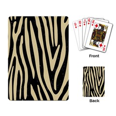Skin4 Black Marble & Light Sand (r) Playing Card by trendistuff