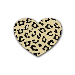 Skin5 Black Marble & Light Sand Rubber Coaster (heart)  by trendistuff