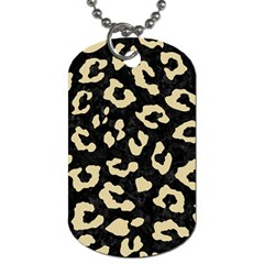 Skin5 Black Marble & Light Sand (r) Dog Tag (one Side) by trendistuff
