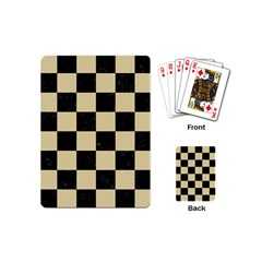 Square1 Black Marble & Light Sand Playing Cards (mini)  by trendistuff