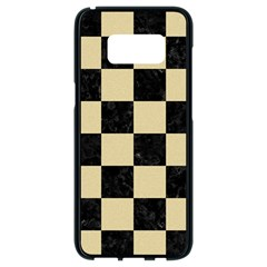 Square1 Black Marble & Light Sand Samsung Galaxy S8 Black Seamless Case by trendistuff