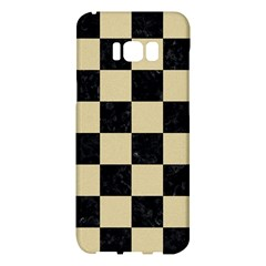 Square1 Black Marble & Light Sand Samsung Galaxy S8 Plus Hardshell Case  by trendistuff