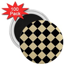 Square2 Black Marble & Light Sand 2 25  Magnets (100 Pack)  by trendistuff