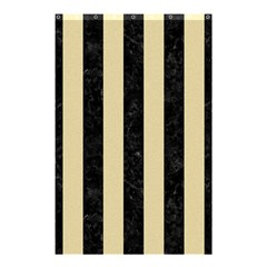 Stripes1 Black Marble & Light Sand Shower Curtain 48  X 72  (small)  by trendistuff