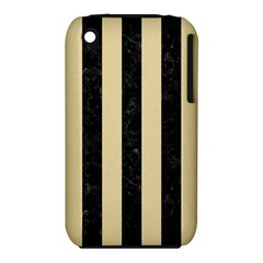Stripes1 Black Marble & Light Sand Iphone 3s/3gs by trendistuff