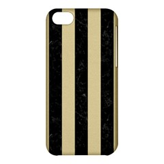 Stripes1 Black Marble & Light Sand Apple Iphone 5c Hardshell Case by trendistuff