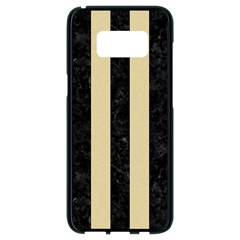 Stripes1 Black Marble & Light Sand Samsung Galaxy S8 Black Seamless Case by trendistuff
