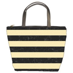 Stripes2 Black Marble & Light Sand Bucket Bags by trendistuff