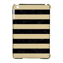 Stripes2 Black Marble & Light Sand Apple Ipad Mini Hardshell Case (compatible With Smart Cover) by trendistuff