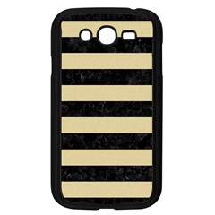 Stripes2 Black Marble & Light Sand Samsung Galaxy Grand Duos I9082 Case (black) by trendistuff