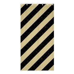 Stripes3 Black Marble & Light Sand Shower Curtain 36  X 72  (stall)  by trendistuff