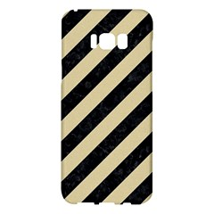 Stripes3 Black Marble & Light Sand Samsung Galaxy S8 Plus Hardshell Case  by trendistuff