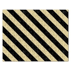 Stripes3 Black Marble & Light Sand (r) Rectangular Jigsaw Puzzl by trendistuff