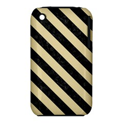 Stripes3 Black Marble & Light Sand (r) Iphone 3s/3gs by trendistuff