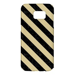 Stripes3 Black Marble & Light Sand (r) Samsung Galaxy S7 Edge Hardshell Case by trendistuff