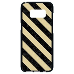 Stripes3 Black Marble & Light Sand (r) Samsung Galaxy S8 Black Seamless Case by trendistuff