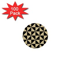 Triangle1 Black Marble & Light Sand 1  Mini Buttons (100 Pack)  by trendistuff