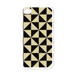 Triangle1 Black Marble & Light Sand Apple Iphone 4 Case (white) by trendistuff