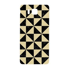 Triangle1 Black Marble & Light Sand Samsung Galaxy Alpha Hardshell Back Case by trendistuff